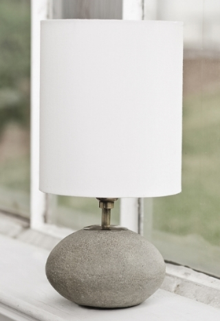 Concrete Orb Lamp