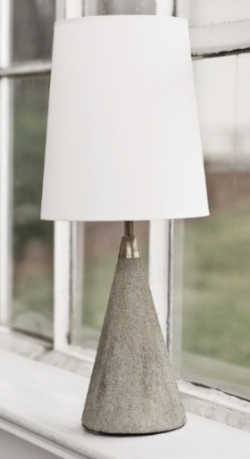 Conical Concrete Lamp