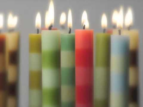6 Band Taper Candles