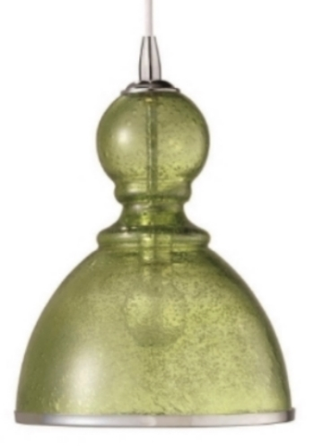 Bell Seeded Glass Pendant Lg