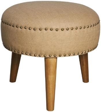 Three Legged Round Ottoman