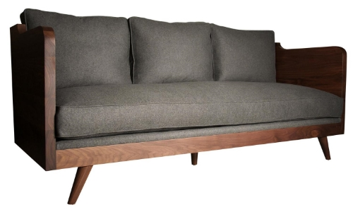Mid Century Walnut Sofa
