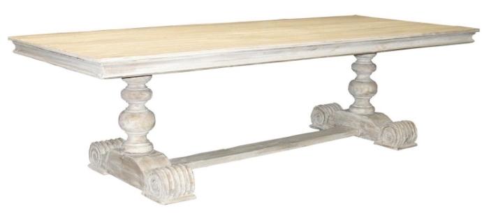 Rectangular White Wash Dinning Table