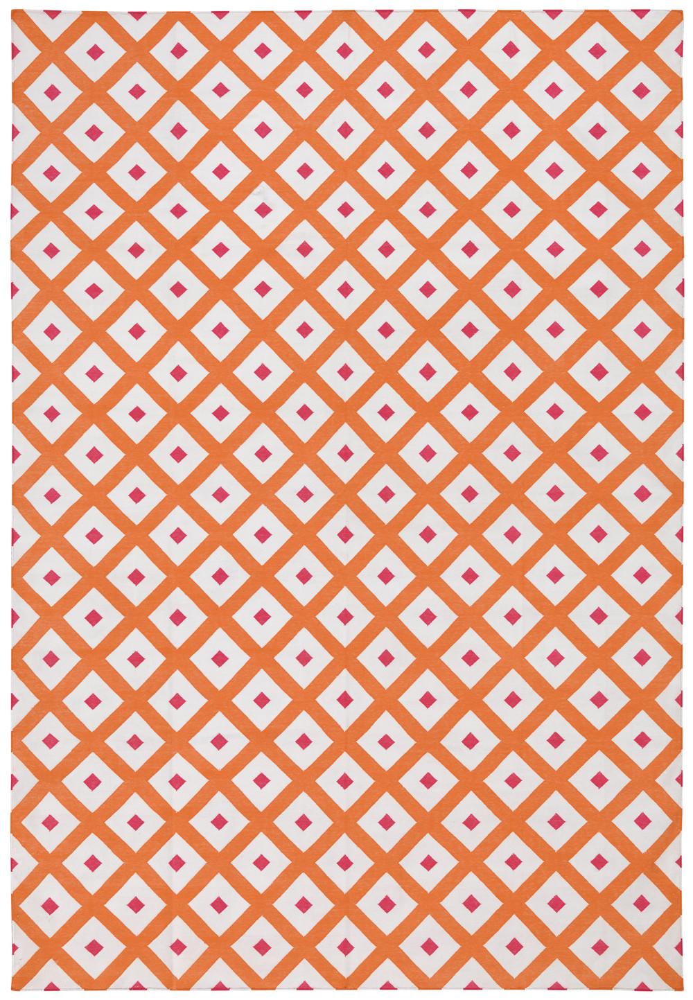 Orange & Pink Dhurrie Rug