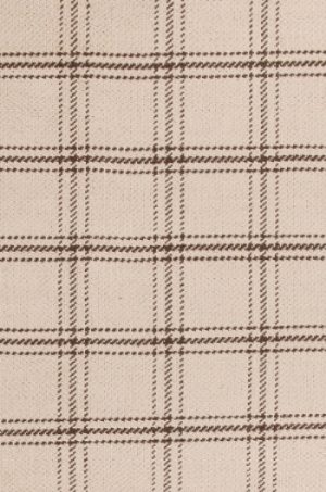 Brown Plaid Jute Rug
