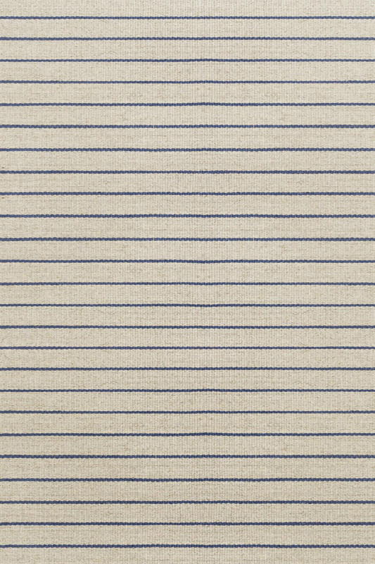 Thin Blue Sisal Stripes