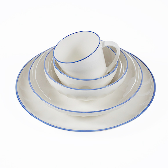 Blue Rim Melamine Dishes