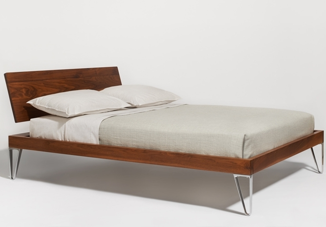 Simply Modern Walnut Bed