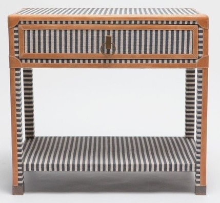 Trunk Stripe Double Nightstand