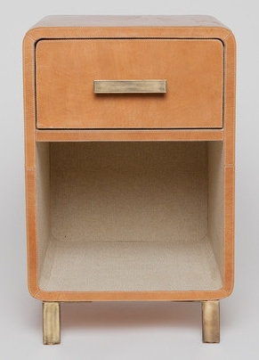 Camel Leather Nightstand
