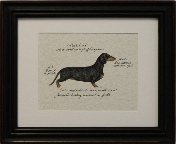 Dachshund Custom Dog Print