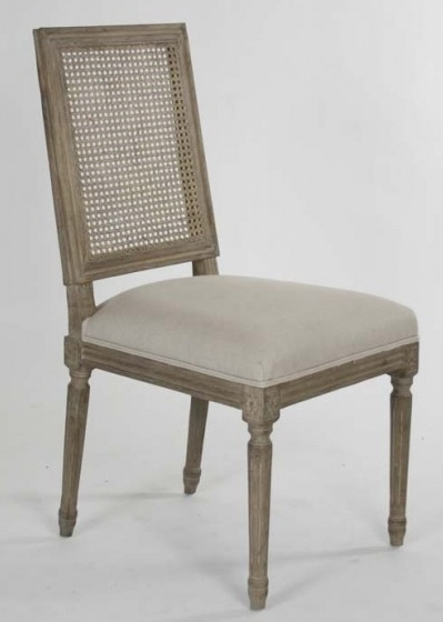 Limed Oak Cane Back Dining Chair