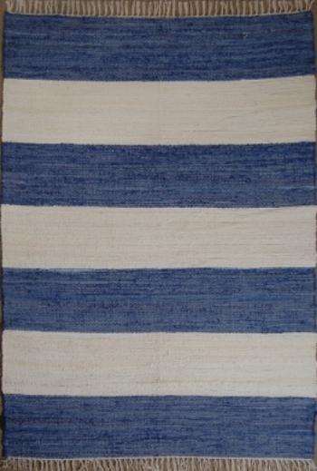Sailor Blue Striped Rug