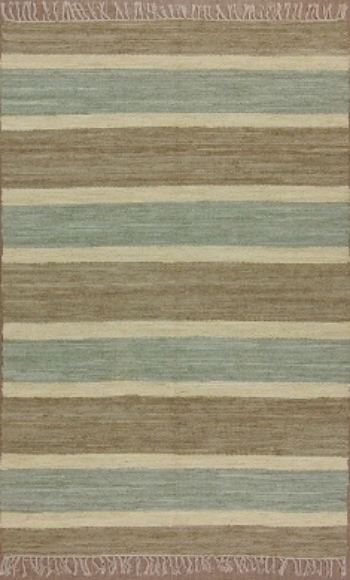 Sky Blue Striped Rug