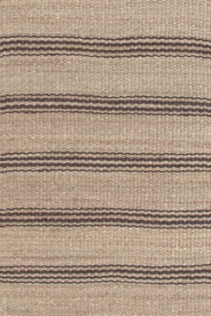 Brown Striped Jute Rug