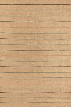 Subtly Striped Jute Rug