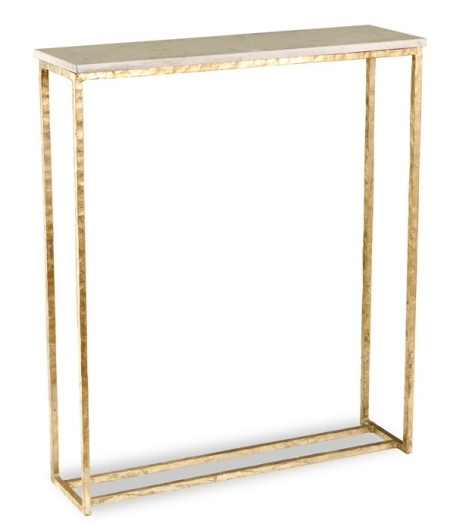Gold Leaf & Marble Console