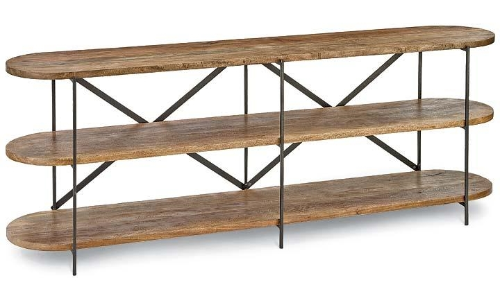 Oval Reclaimed Wood Console