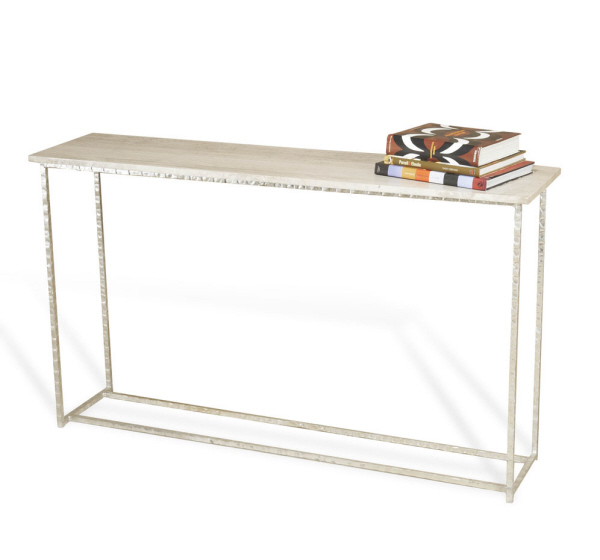 Long  Silver & Marble Console
