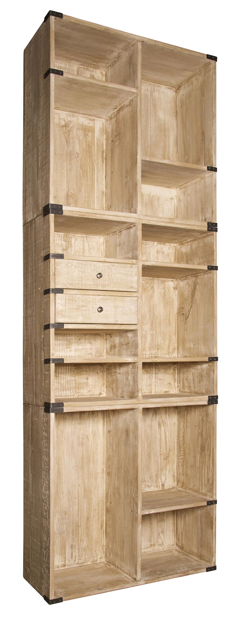 Rolling Four Shelf Bookcase