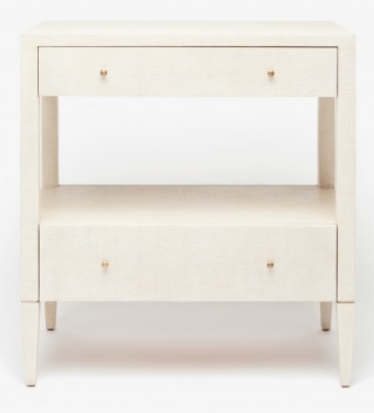 Double Nightstand Off-White Raffia