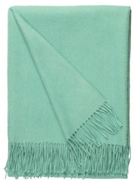 Baby Alpaca Throw Turquoise