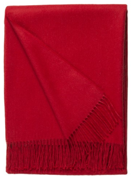 Baby Alpaca Throw Red