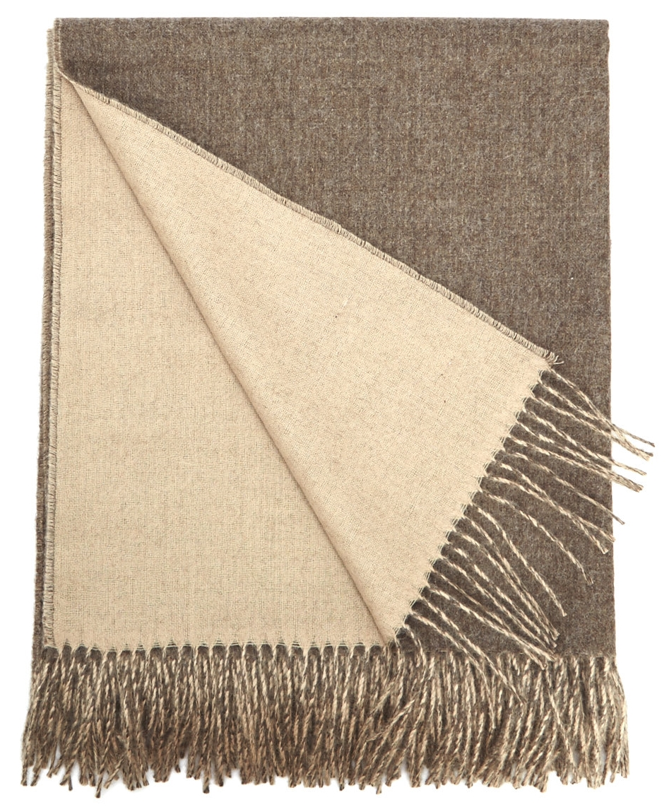 Baby Alpaca Throw Camel Beige