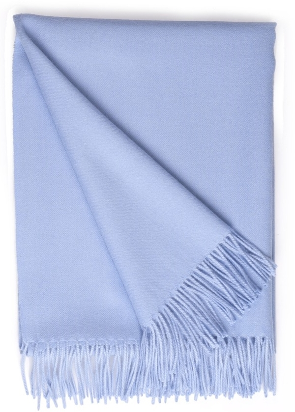 Baby Alpaca Throw Sky Blue