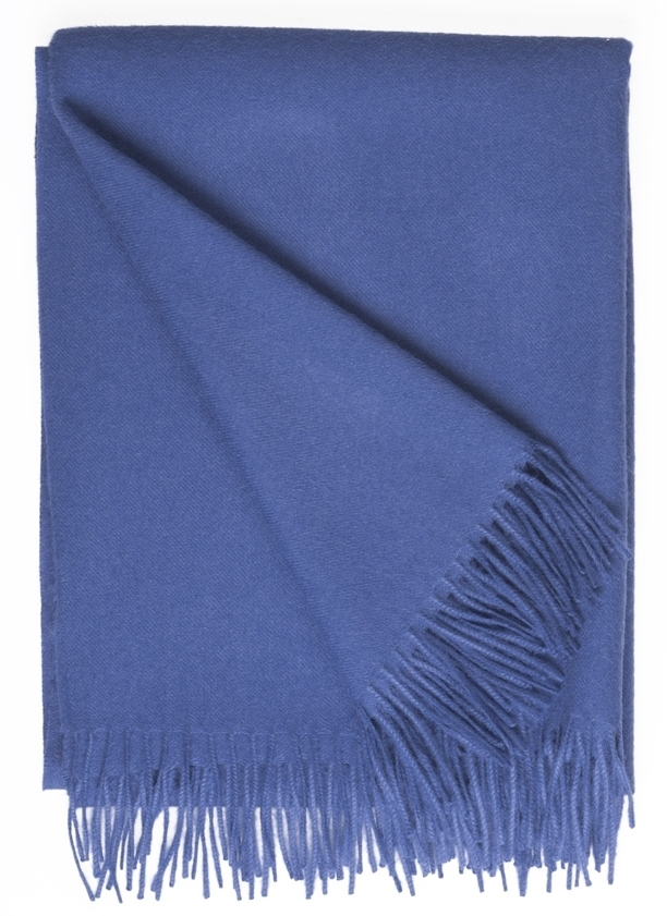 Baby Alpaca Throw Moonlight Blue