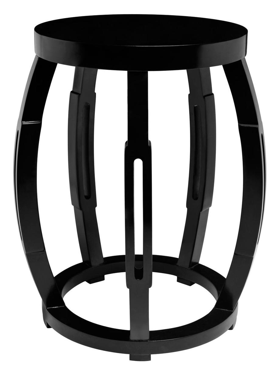 Drum Occasional Table Black
