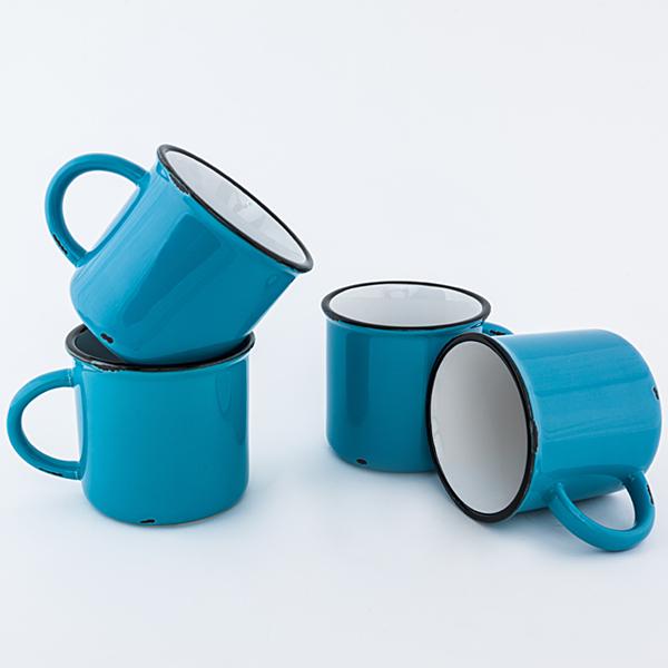 Teal Ceramic Tinware Mug