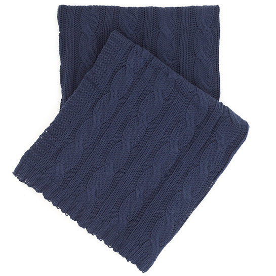 Navy Cable Throw