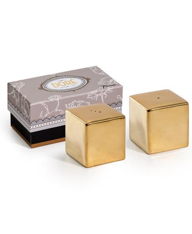 Gold Cube Salt & Pepper