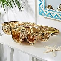 Giant Clam Shell Gold