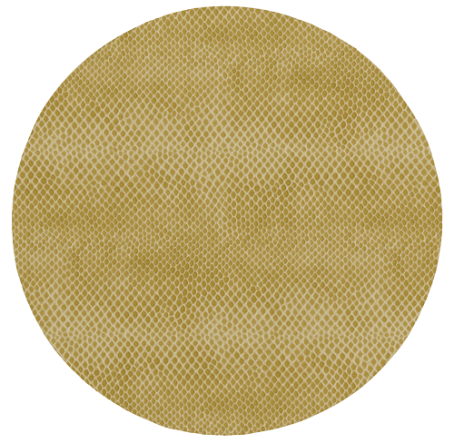 Round Snakeskin Cognac Placemat