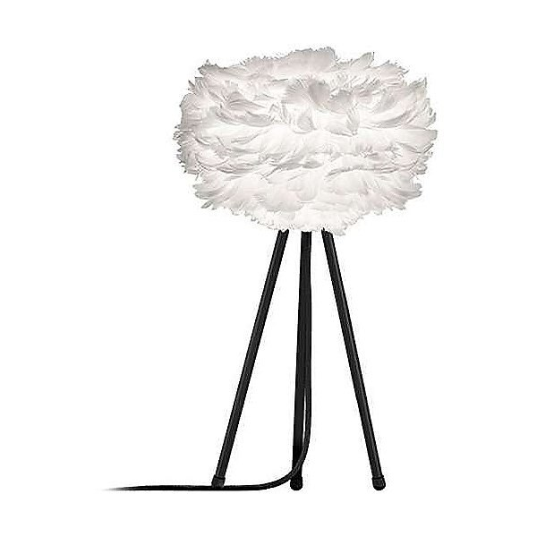 Goose Feather Tripod Table Lamp