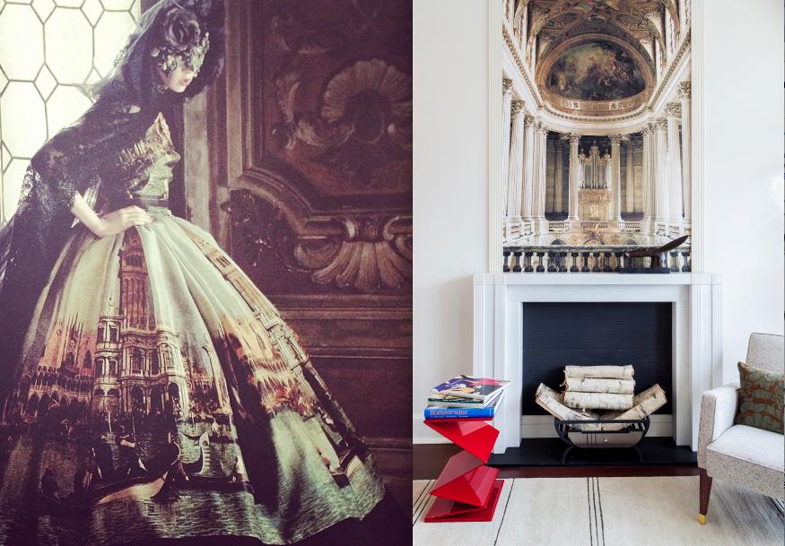 Valentino's Alto Moda creation (Fall 2013) from  Vogue  & Raji RM & Associates Room at the  2012 Kips Bay Show House