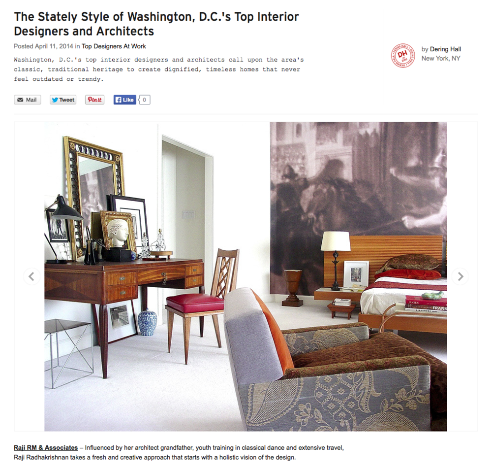 Online press thank you dering hall raji rm interior for Interior design space planning questionnaire