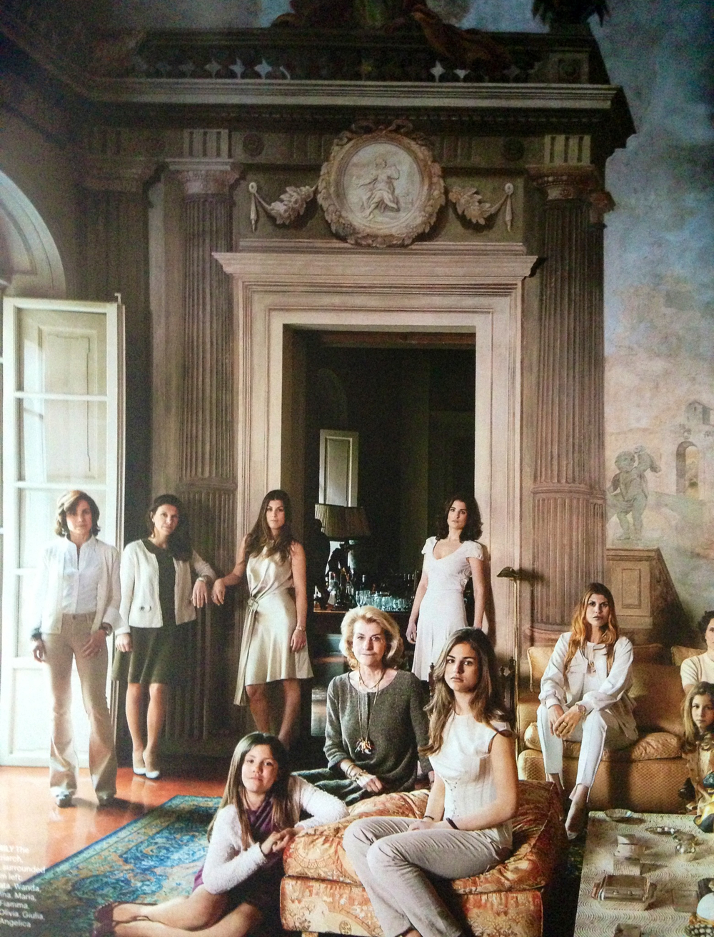 A fabulous spread on the women of the  Ferragamo  house in yesterday's Travel issue