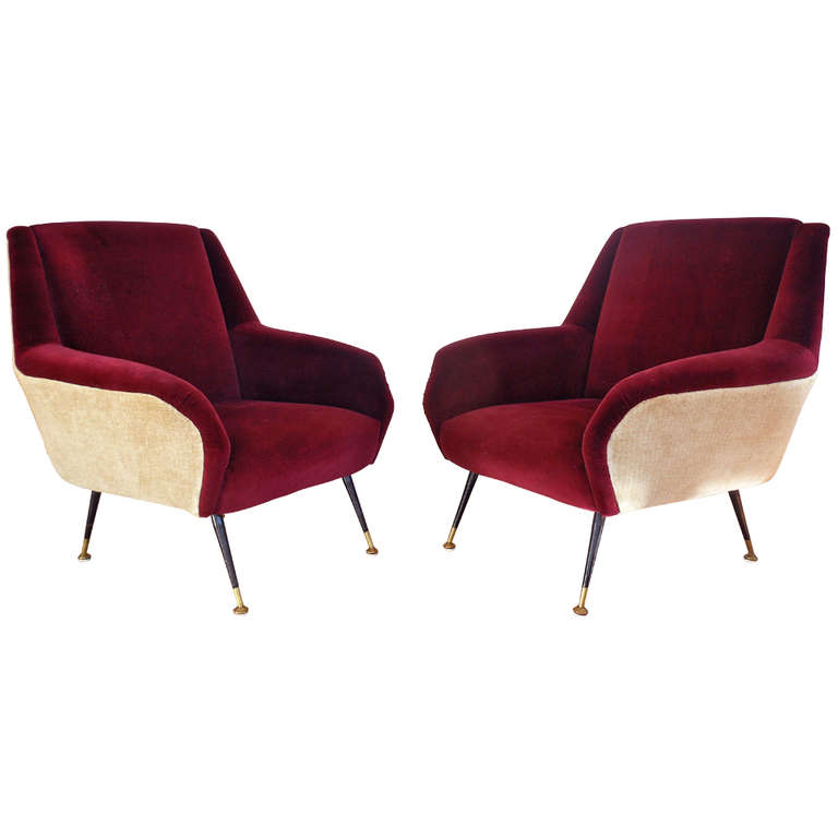 Pair vintage Gio Ponti chairs from  maison et toi