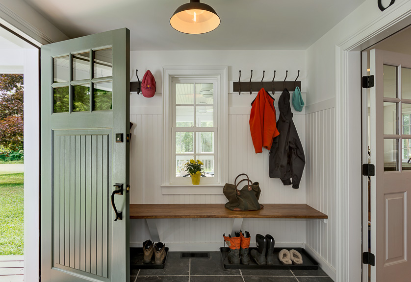 Mud room in a Massachusetts Farm House
