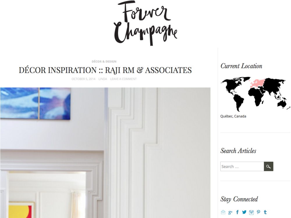 Forever Champagne Raji RM Interior Design Washington DC New York