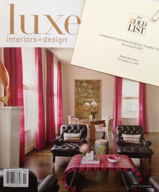 Raji RM Interior Design Washington DC New York Luxe Magazine 2015 Gold List