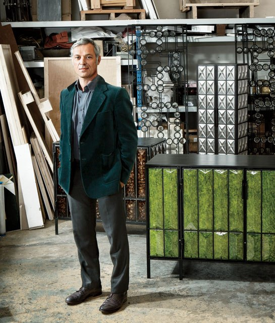 Christophe Côme in his studio (image via Architectural Digest)