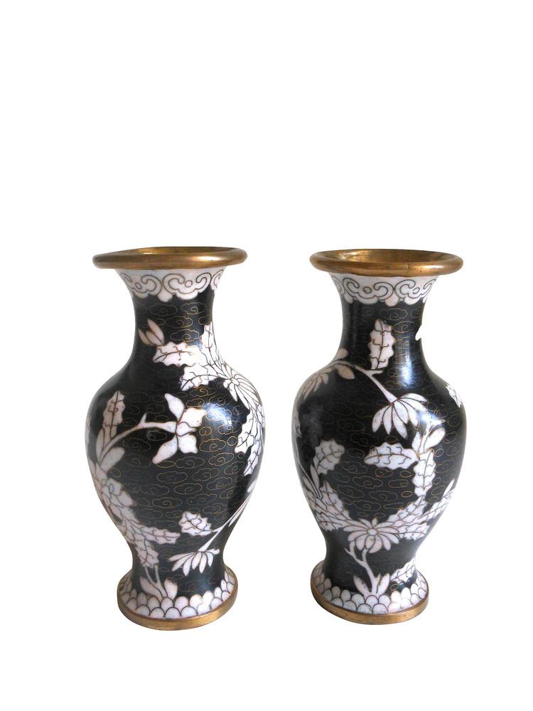 Mini Chinese Cloisonne Vases Pair Raji Rm Interior Designer