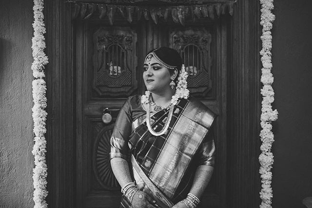 My baby girl on her wedding day morning!! Thanks for the sneak peak @creativechisel #Morephotostocome #ShrutiKalyanam #indianwedding #southindianwedding
