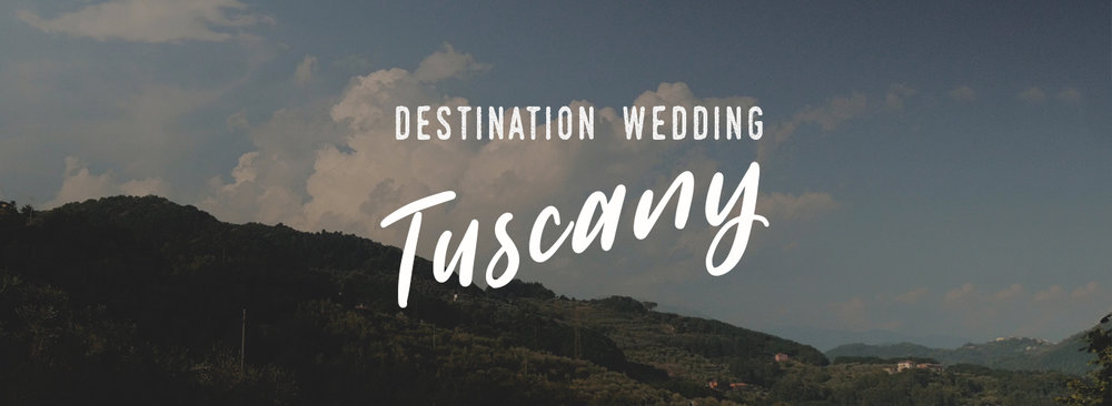 Destination wedding Film Tuscany