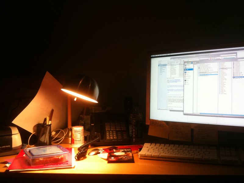 This is my desk at Combustion where I am a design intern.