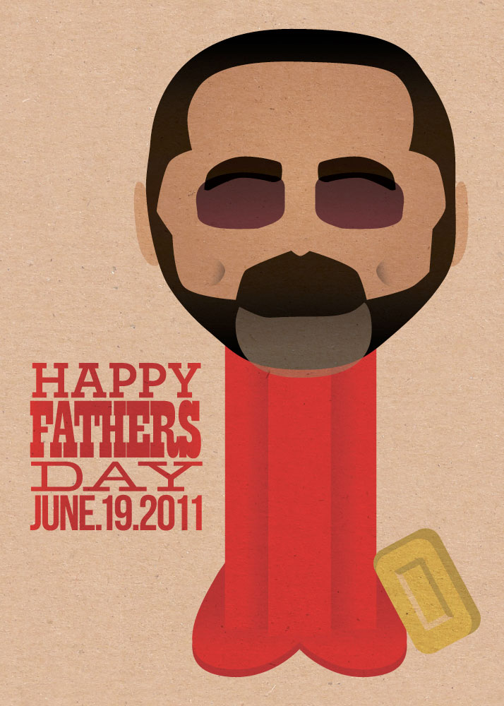 This is an illustration I did of my pops as a Pez dispenser for Father's Day.